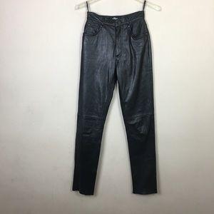 Wilson's black genuine leather pants